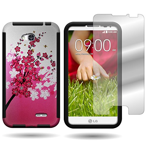 CoverON® Hybrid TPU & Hard Plastic Dual Layer - Pink Lg Realm Phone Case