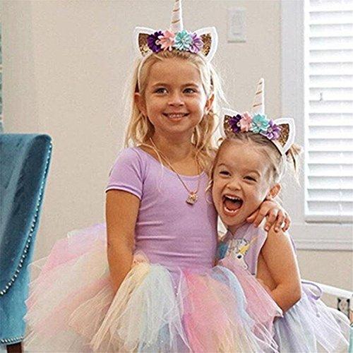 Amazon Com Gogoforward Hair Hoop Unicorn Headband Hair Hoop Kids