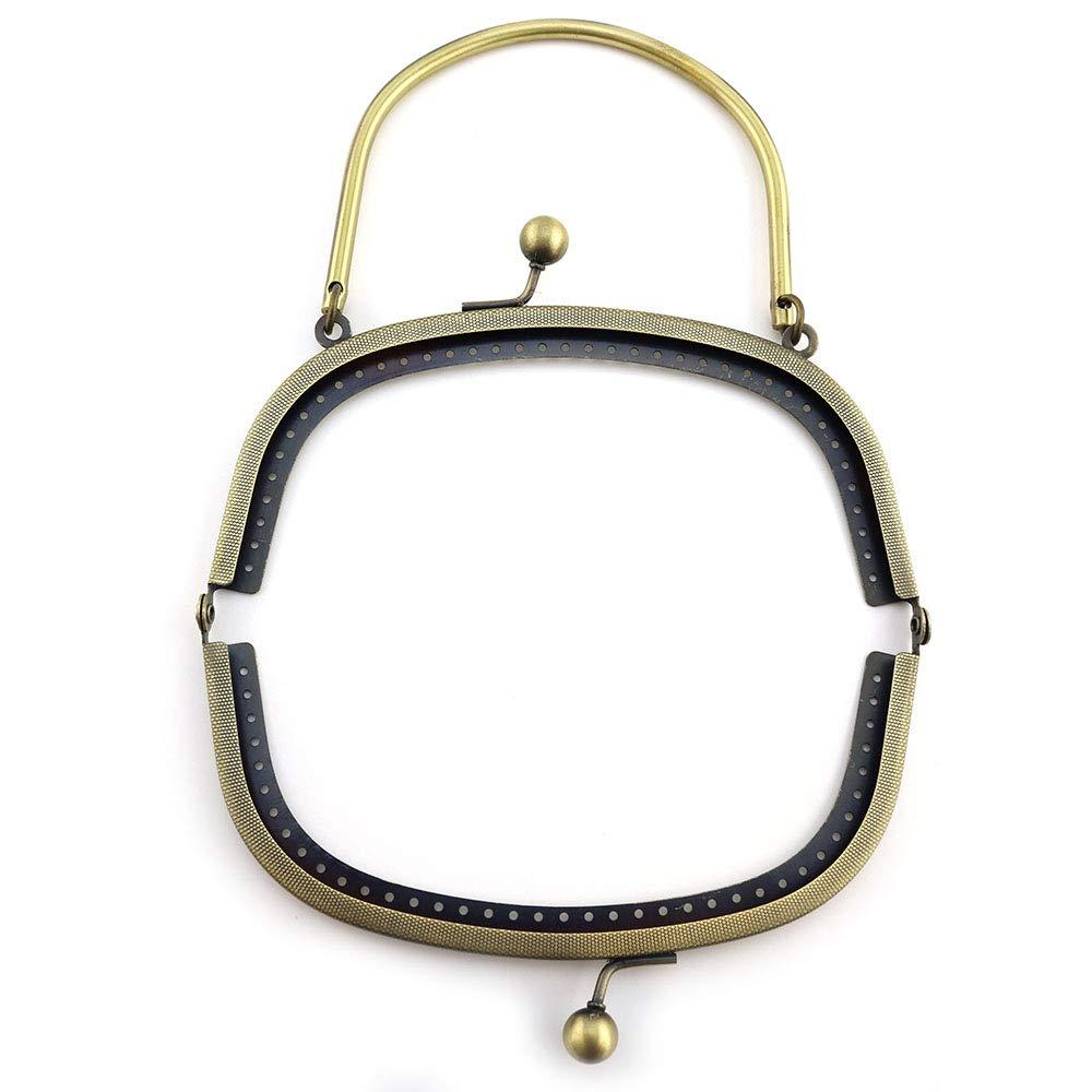RUBY - Boquilla para bolsos Cierre de boquilla para bolso Cierre monederos boquilla de bolso para Patchwork (Bronce, 27cm)