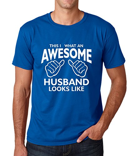 SignatureTshirts Men's This is What an Awesome Husband Looks Like T-Shirt (Large, Royal)