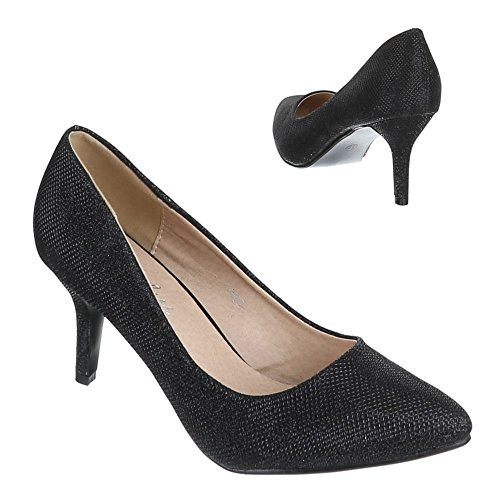 Ital-Design Damen Schuhe S003 Pumps High Heels