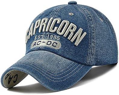 Unbranded Capricorn Denim Gorras de béisbol Mujer KPOP Hip Hop Cap ...