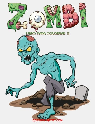 Zombi libro para colorear 2 (Volume 2) (Spanish Edition)