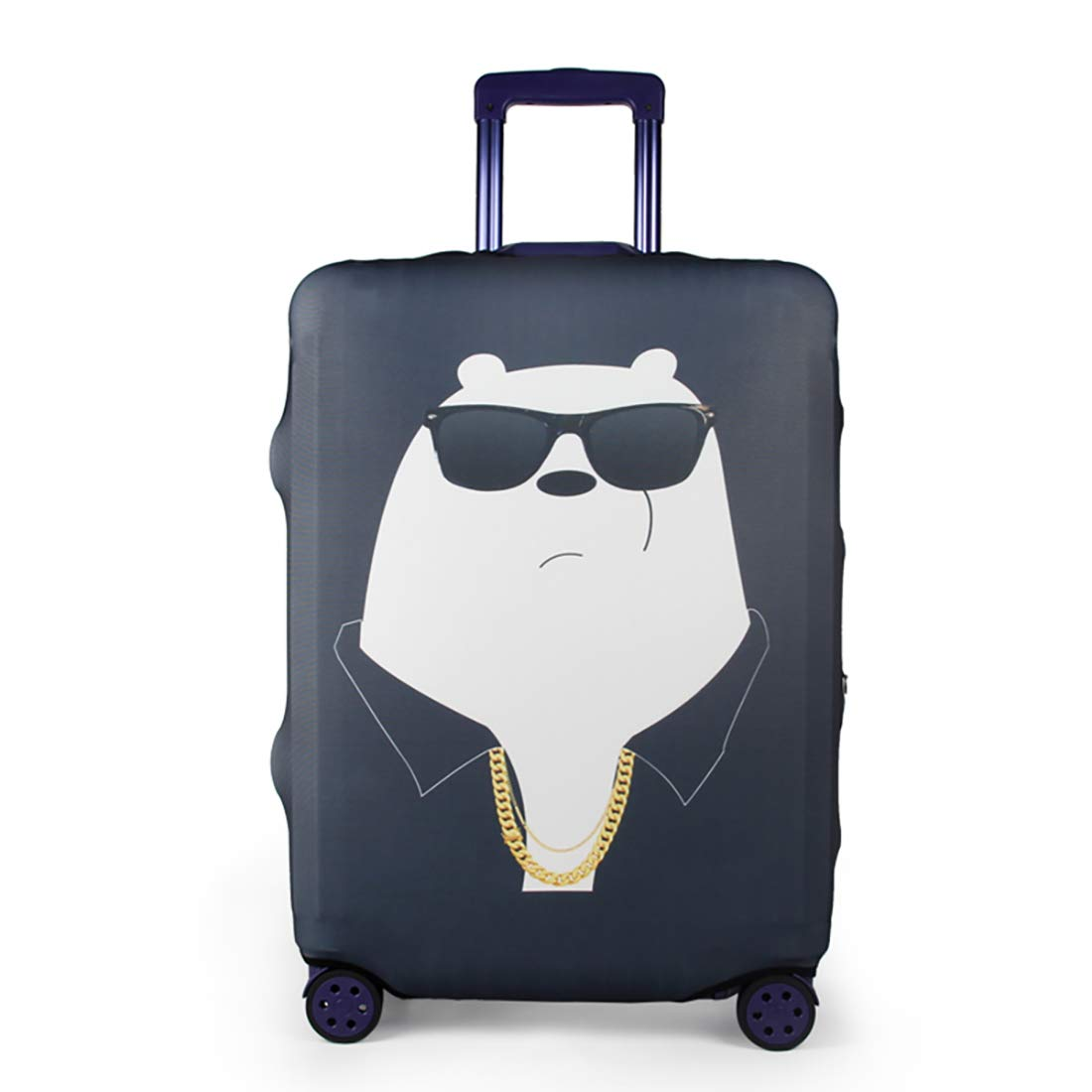 Yellow Bear, S YUL Luggage Protector Cover Suitcase Washable Protective Cover Travel Trolley Case for 19-29 Inch Luggage 19-20