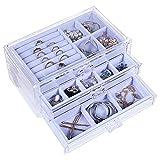 misaya Women Jewelry Box Organizer 3 Drawers