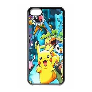 FOR Iphone 5c -(DXJ PHONE CASE)-Cute Cartoon Pikachu-PATTERN 5