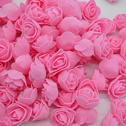 50Pcs/Lot 3Cm DIY Handmade Foam Flowers 3Cm Rose Flower Head Artificial Pe Foam Rose Wedding Decoration Scrapbooking Crafts 8Z