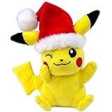 Toys : TOMY Pokémon Small Plush, Pikachu with Santa Hat Plush