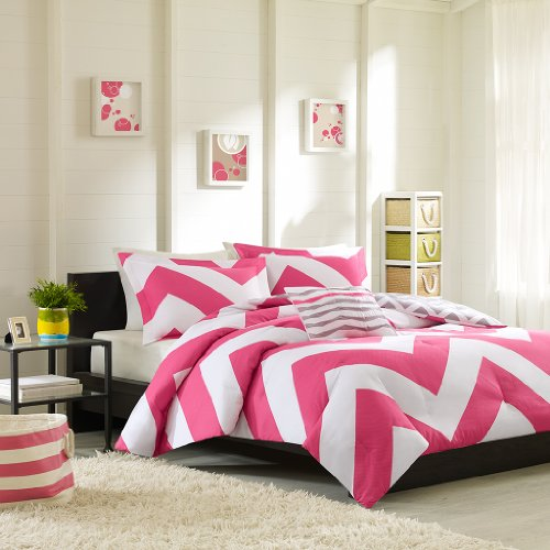 Mi-Zone Libra Comforter Set, Twin/ Twin X-Large, Pink