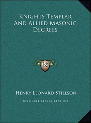 Book Knights Templar And Allied Masonic Degrees