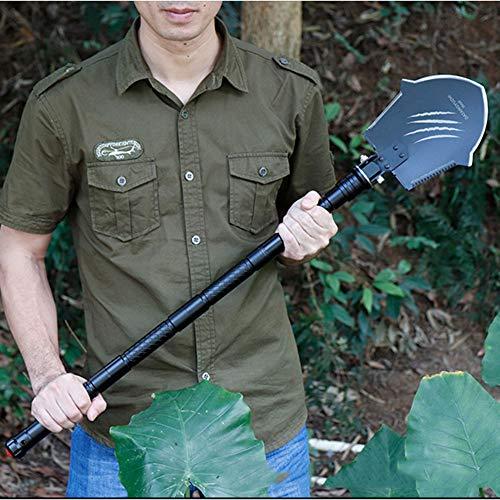 YXCXC Multifunctional Military Shovel Large Car Military Shovel Folded Military Shovel Outdoor Camping Self-Defense Tool Wolf Claw Mark by YXCXC (Image #7)