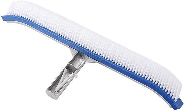 LiKuLi Fu Shi Cepillo de Limpieza para Piscinas de 18 Pulgadas, Herramienta de Limpieza para Piscinas Cepillo con Respaldo de Aluminio para Limpiar Piscinas, Pisos y Paredes: Amazon.es: Jardín