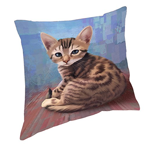 Bengal Cat Throw Pillow (14x14)