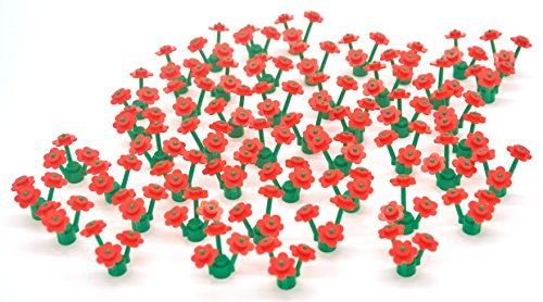 [50 Red LEGO Flowers] (Flower Zombie Costumes For Girls)