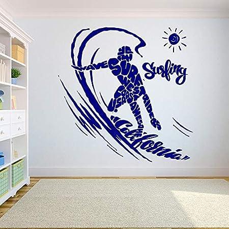 Geiqianjiumai Surf Surf Tatuajes de Pared Palm Shark Surfer Boy ...