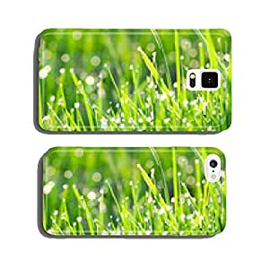 green grass on a lawn with dew drops cell phone cover case Samsung S6