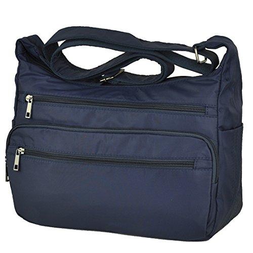 large Pocket Handbags Shoulder Crossbody Rock Bags Volcanic Bags Lightweight Waterproof Blue Messenger Multi Nylon XO0UwxAqxZ