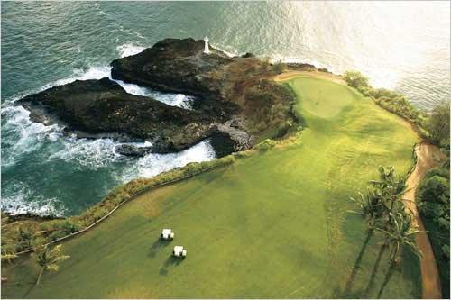 Golf Course, Hawaii Coast, 36x24 ()