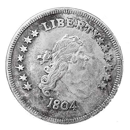 homker 1804 American Free Brass Commemorative Coin 10 Pcs,Silver,1.5