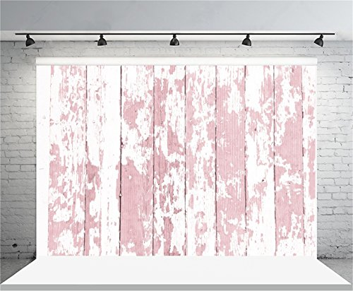 AOFOTO 7x5ft Grunge Faded Pink Wooden Plank Photography Background Rural Weathered Hardwood Vintage Shabby Peeling Wood Board Floor Backdrop Rustic Nostalgia Kid Baby fant Photo Shoot Props Vinyl (Hardwood Floor For Photography)