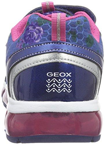 Geox J Android Girl a, Zapatilla Baja Para Niñas Azul (Navy / Fuchsia C4268)