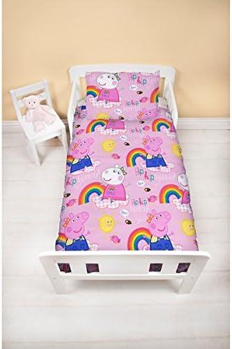 motivo: trattore Set di biancheria da letto per bambini BrandMac Peppa Pig in cotone 135 x 200 cm