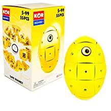 Geomag Kor Egg - Yellow - 55 Piece Creative Magnet Playset - Swiss Made - Part of Geomag's World Famous Award Winning Product Line - Ages 5 and Up