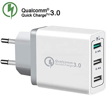 Cargador 30 W Quick Charge 3.0 Qualcomm 3 Puertos USB para ...