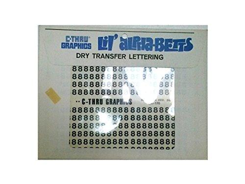 C-Thru Graphics LA-170 Lil' alphabets Dry Transfer Lettering