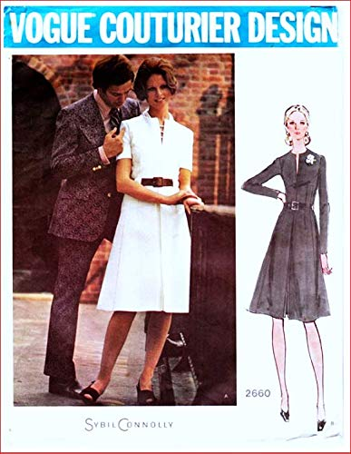 (Vogue Couturier Design 2660 Misses'Semi Fitted A-Line Dress Vintage Sewing Pattern Check Listings for Size)