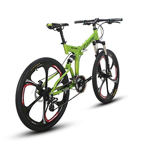 VTSP 100RD MTB 折りたたみ 自転車 26インチ マウンテンバイク シマノ24段変速 通勤通学 B06WWN4MTNグリーン