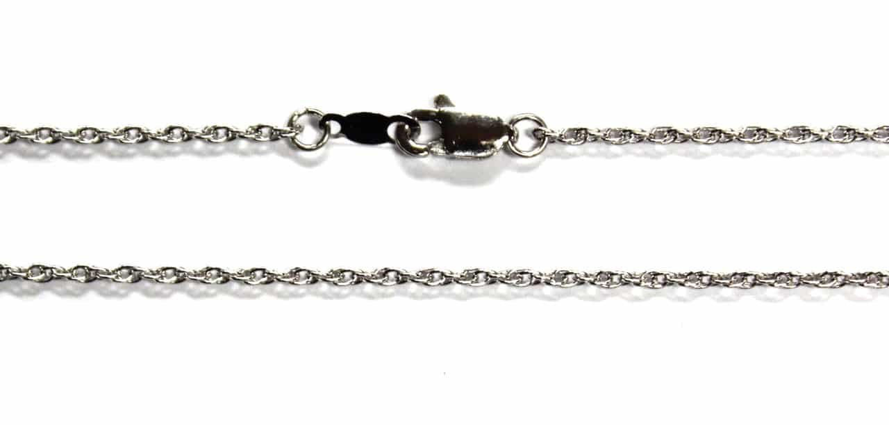Platinum 950 16'' 18'' 20'' 24'' 1.4mm Rope Necklace Chain with Lobster