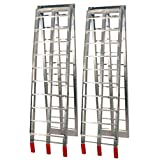 Silver Aluminium Arched Folding Loading Ramps