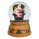 MusicBox Kingdom Snow Globe with a Rotating Scene with Santa Reading to a Small Girl Sitting on His Lap Plays a Christmas Melody Decorative Item