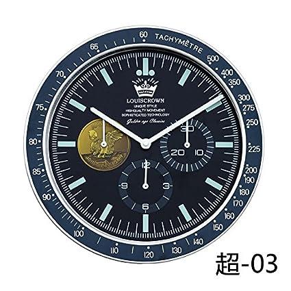 Komo silencioso Moderno Decoración Adorno para Hogar Creative Relojes Antiguos Reloj de Pared atmósfera Minimalista para