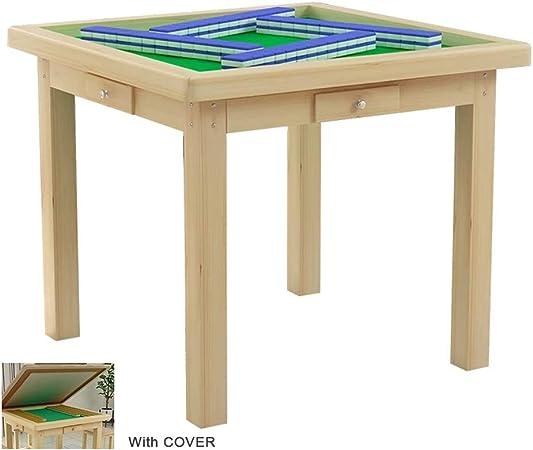Yoyogi Tabla Mahjong, Mahjong Despliegue la Tabla con la Cubierta, 4 cajones, Doble Uso, Adecuado for Jugar Juegos de Cartas/Juegos de Mesa/Estudio/Comedor Tabla, 95x95 cm: Amazon.es: Hogar