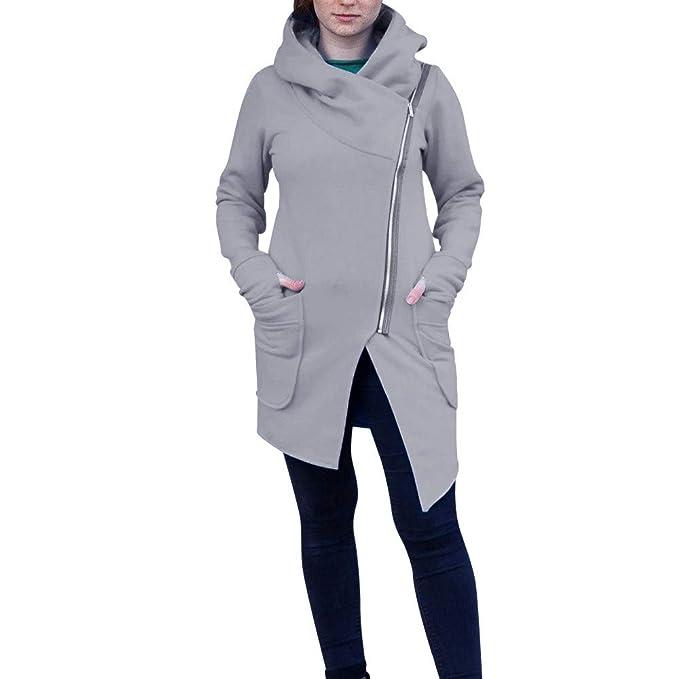 2000ade813 TWBB Damen Mäntel,Winter Warme Kapuzenpullover Mantel Sweatshirt Jacken  Parka Strickjacke Dicker Outwear Mit Kapuze