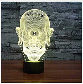 Amazon Com One Eyed Giant 3d Lamp 7 Color Led Night Lamps For Kids