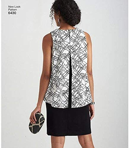 Paper 22x15x1 cm New Look Pattern 6430A Misses Dress in Two Lengths