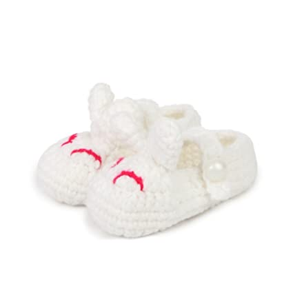 reebonz Cute Cartoon Rabbit recién nacido Baby Girl Boy Zapatos de Punto para Bebé punto Botines