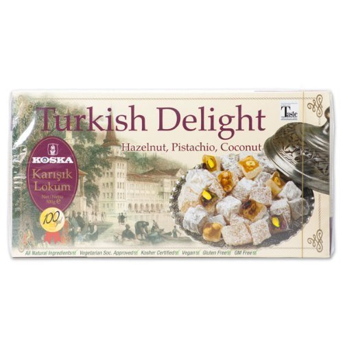 Turkish Delight Hazelnut, Pistachio, Coconut (Koska) 500g by Koska