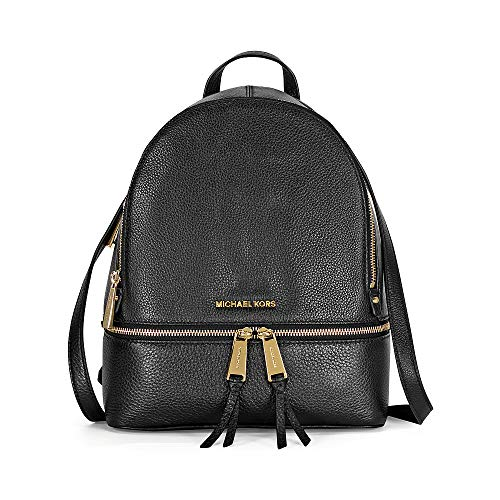 MICHAEL Michael Kors Rhea Zip Medium Leather Backpack, Black