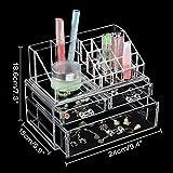 GreenSun(TM) Clear Acrylic Cosmetic Organizer Box Makeup Storage Drawer Desk Bathroom Makeup Brush Lipstick Holder Desktop Storage Box