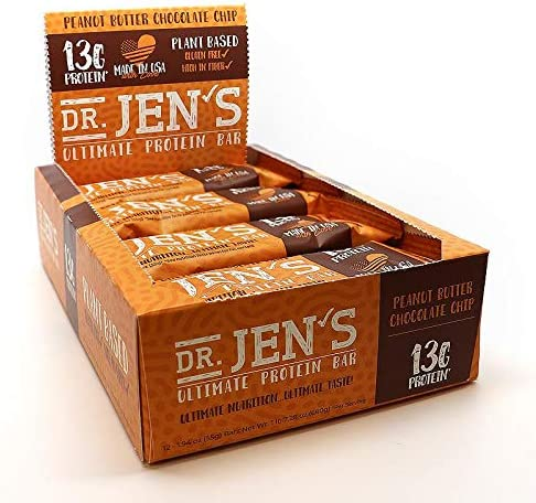 Dr. Jen s Ultimate Protein Bar Peanut Butter Chocolate Chip Flavor 12 Count