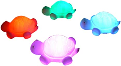 Othmro Cute Animal Turtle Night Lights LED Lamp 7 Color LED Birthday Gifts for Kids Including Battery 10pcs