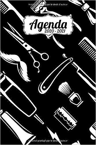 Agenda Scolaire 2020 2021: Moustache, barbier | Agenda semainier