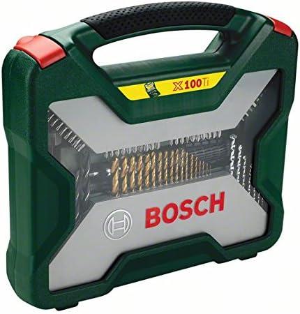 Maletin Bosch 100 Unidades Taladrar y Atornillar