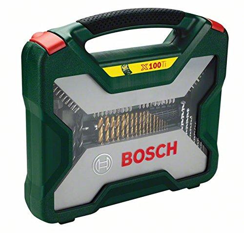 Bosch 2607019330 X-line Coffret de m/èches et forets Titane 100 pi/èces