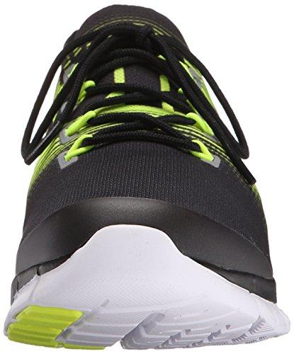 Reebok Women's Zpump Fusion 2.5 Walking Shoe, B(M) US Black/Solar Yellow/White