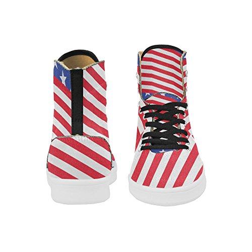 D-story Scarpe Personalizzate Grunge Usa Bandiera High Top Retro Donna Sneaker Multicoloured1